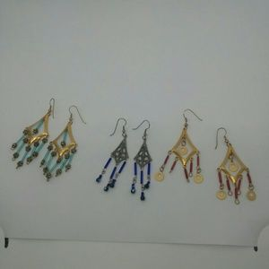 3 pairs of handmade Earrings